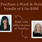 NEW PROMO Hair Wash and Style 4 for 100